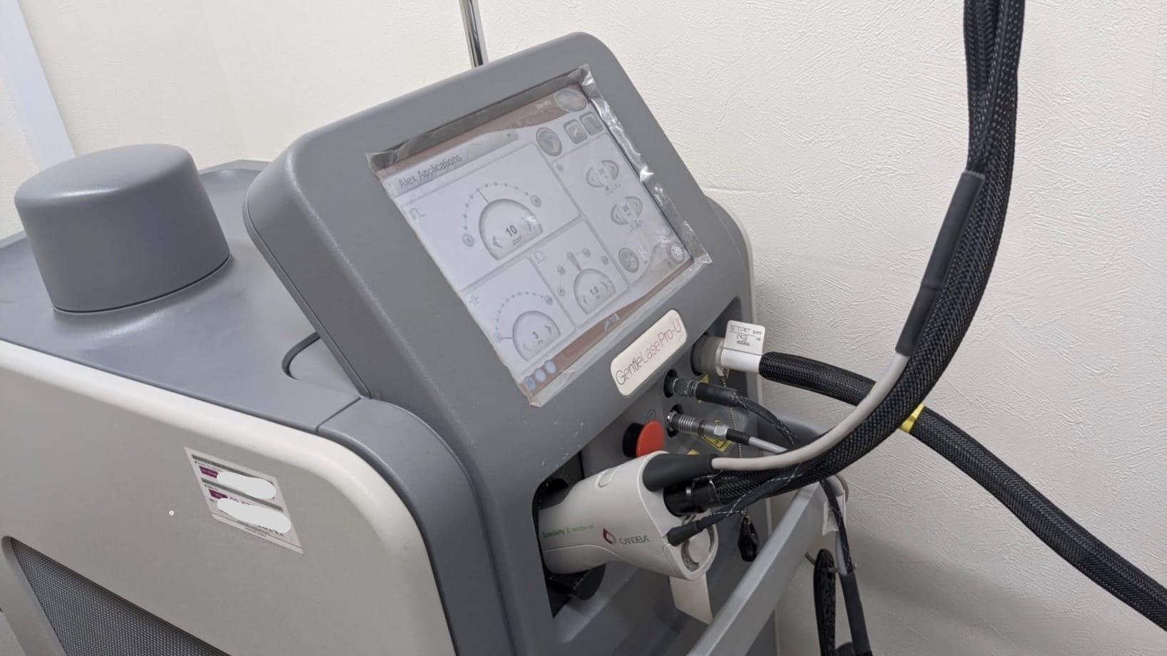 湘南美容クリニックで使用しているアレキサンドライトレーザーのマシン「ジェントルレーズPRO」